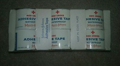 Johnson + Johnson Red Cross Adhesive Tape Tin Lot of 6 New and Unopened Vintage