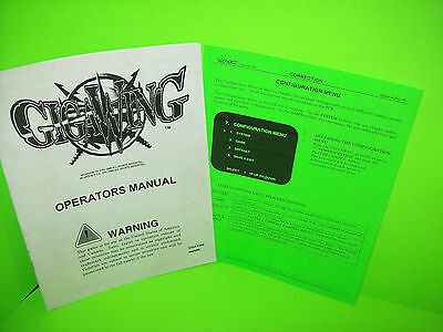 Capcom GIGAWING 1999 Video Arcade Game Service Instruction Operation Manual