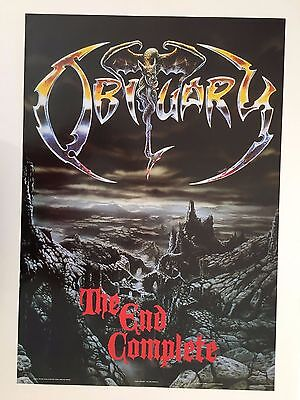 Obituary,the End Complete, Rare Authentic Licensed 1991 Poster