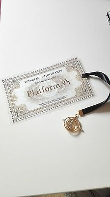Marque Page Harry Potter bookmark billet train plateform 3/4 time turner granger