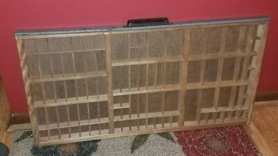 "CHARMING Old HAMILTON PRINTERS Typeset Drawer/Tray~SHADOW BOX~Wood~32""x16.5""!"