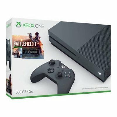 Xbox One S Battlefield 1 Special Edition Bundle Storm Grey 500GB Console 1E