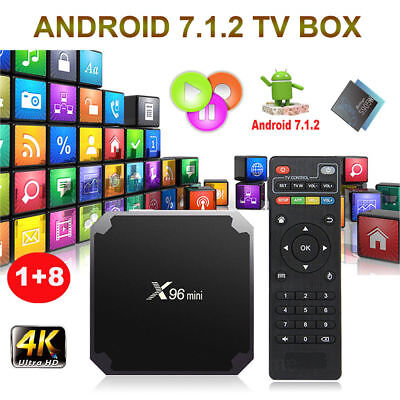 X96MINI Android 7.1.2 Nougat Smart TV BOX Media Player 4K 1+8G HDMI WIFI MINI PC