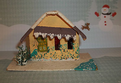 Vintage Christmas Paper PUTZ HOUSE Peach & Brown Made in JAPAN C613
