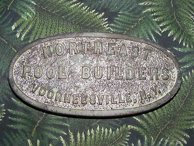 Bronze Swimming Pool Builders Plate, Northeast Pool Builders, Voorheesville NY