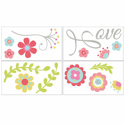 Mila Self Stick Floral Wall Decals Stickers by Peanut Shell