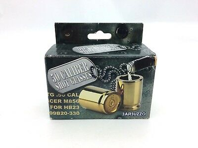 50 Caliber Shot Glasses by Barbuzzo, Gold, Set of Two