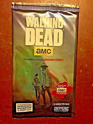 2016 CRYTOZOIC The Walking Dead Season 4 Part 1 Factory Sealed Pack - 5 Cards