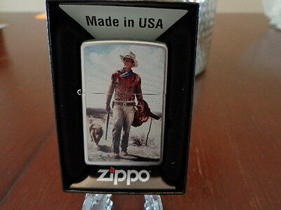 John Wayne In Hondo With Rough Coated Collie Zippo Lighter Mint In Box