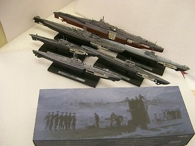 Atlas editions 1:350 Submarines U214 U2540 S13 Surcouf USS Archerfish U552 cutaw