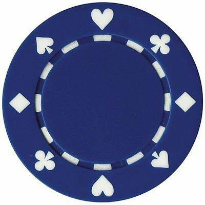 50 Clay Composite Suited 11.5-Gram Poker Chips (BLUE)
