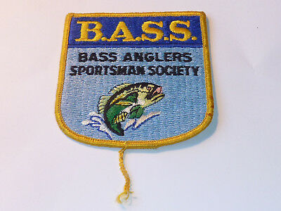 vintage PATCH Insigne ecusson BASS ANGLERS SPORTSMAN FISHING SOCIETY fish PECHE