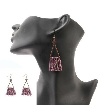 Fashion Retro Bohemian Boho Vintage Tassel Dangle Hollow Women's Charm Earrings