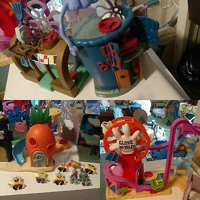 Lot Imaginext SpongeBob SquarePants Glove World Chum Bucket with Accessories