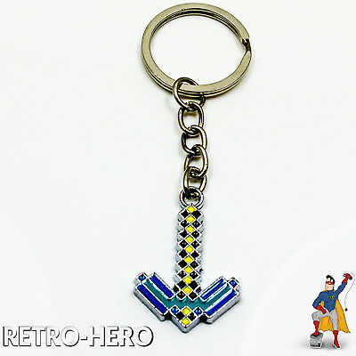 MINECRAFT Spitzhacke Schlüsselanhänger - Gray Pick Axe Key Chain *LIMITED*' PICK