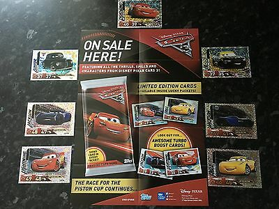 New CARS 3 Limited Edition & Super Shiny Cards By Topps, Lightning McQueen