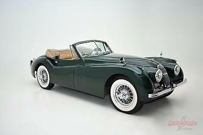 1954 Jaguar XK Drophead Coupe 1954 Jaguar XK120 Drophead Coupe 60,436 Miles Green