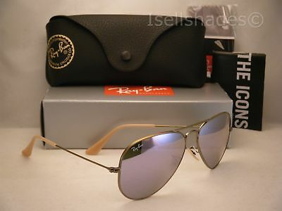 Clearance Ray Ban 3025 Aviator Brush Bronze w Lilac Flash (RB3025 167/4K 58)
