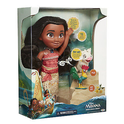 New Singing Moana & Friends Action Figures Doll Light & Movie Song Kids Toy