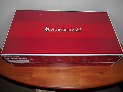 American Girl Josefina's Green Sleigh Bed with Bedding and Fur Rug NEW RETIRED
