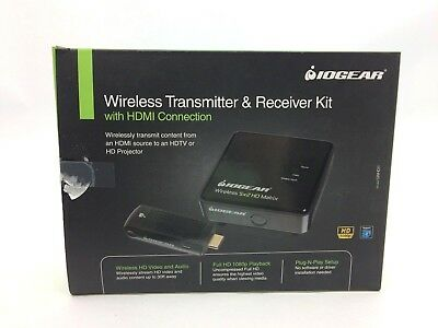 IOGEAR Wireless Transmitter & Receiver Kit w/ HDMI Connection