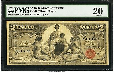 1896 $2 FR-247 EDUCATIONAL Silver Certificate - PMG Very Fine 20