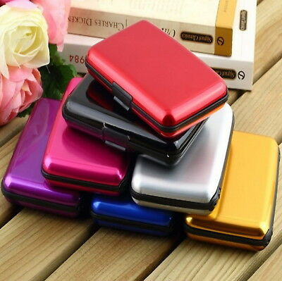 US Aluminum Wallet RFID Blocking Pocket Holder Credit Card Case Water Resistant