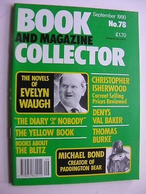 BOOK & MAGAZINE COLLECTOR Sept 1990 78 Evelyn Waugh Michael Bond Denys Val Baker