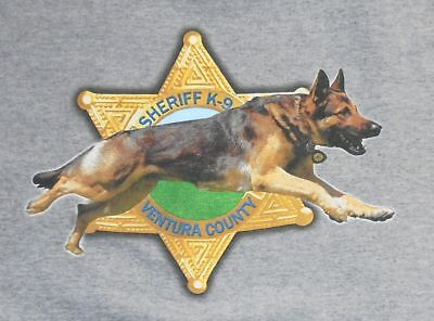 VENTURA Sheriff Police Department K9 K-9 Southern California canine shirt
