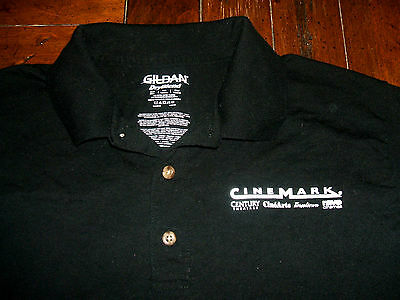 Jurassic World Cinemark 2015 PROMO Movie Theater Worker Polo Rugby Shirt Small