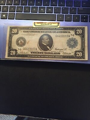 "1914  Chicago $20.00 Note ""NO RESERVE"""