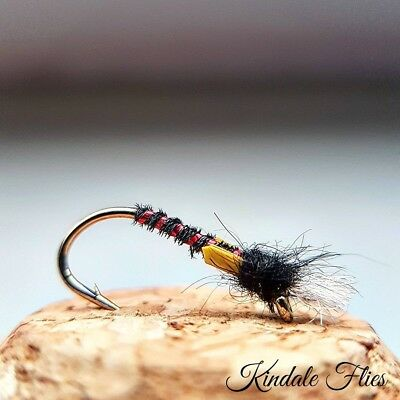 Set of 3 Cdc Red Tag Suspender Buzzer Size 16 Fly Fishing Flies Trout