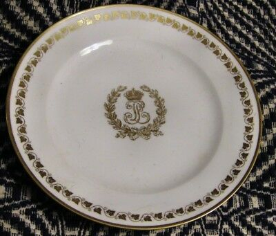 Fab. Antique Sevres Royal French Service Plate Louis Phillipe Dated 1833