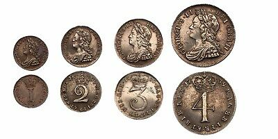 1739 George II Maundy set Great Britain silver coins