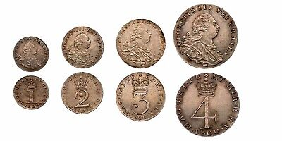 1800 George III Maundy set Great Britain silver coins