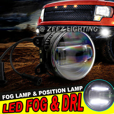 High Power LED Fog Lamp Projector Driving w/ DRL Daytime Running Light Cars #P