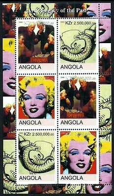 Angola 2000 Wildlife Elephants Marilyn Monroe Warhol Sports Chess Art Mnh