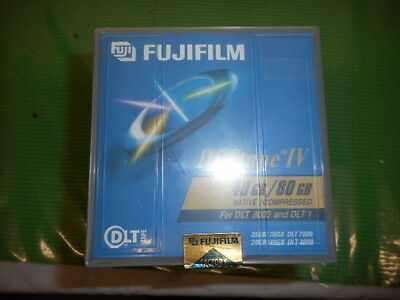 FOUR OPENED FUJI FILM DLT IV TAPE CARTRIDGES 40GB 80GB DLT 8000 and DLT 1