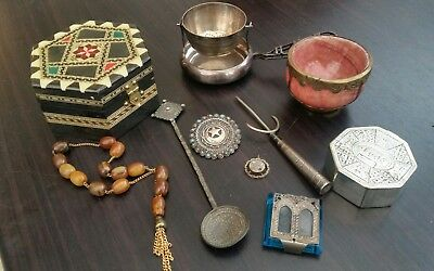 antique vintage silver / gold brooch silver plate etc curio