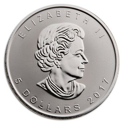 2017 $5 Silver Canadian Maple Leaf 1 oz Coin Brilliant Uncirculated