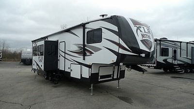 new xlr nitro 36ti5 toy hauler fifth wheel 2 bathroom 11ft garage rv camper