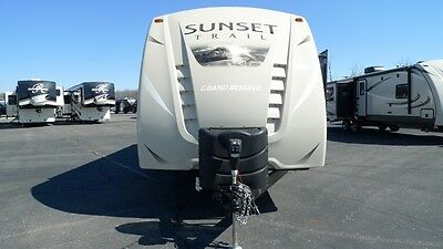 new sunset trail 32bh bunkhouse double slide camper rv loaded with options