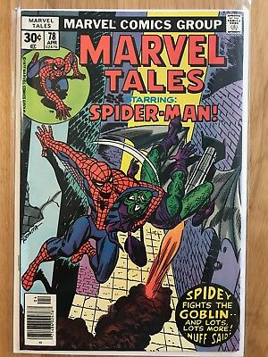 Marvel Comics: Marvel Tales starring Spider-man #78 – VF Apr 1977  Stan Lee