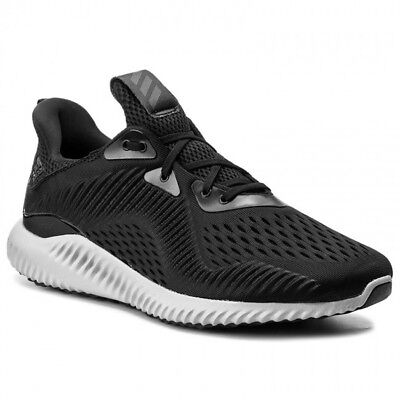 Adidas Men's AlphaBounce EM Black/White/Grey BY4264 Sz 8 - 13