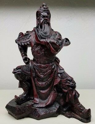 """Vintage Japanese Chinese Samurai Warrior Statue Approx 11"""" tall"""
