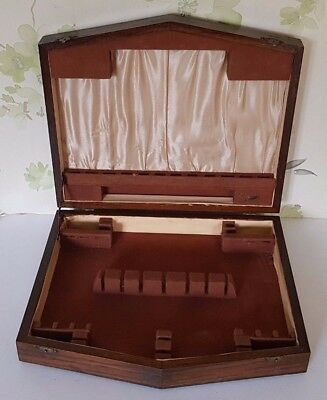 Empty Vintage Art Deco Wooden Cutlery Canteen For 6 Place Settings Plus Servers