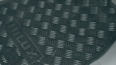 Genuine Toyota Hilux Dual Cab Rubber Floor Mats (Front) (Aug 2005 - 2011)