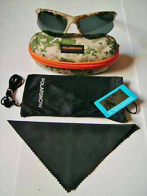 Camouflage Pattern Half Frame Polaroid Fishing Glasses With Case,cloth & Lanyard