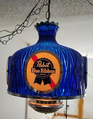 Vintage Pabst Blue Ribbon Beer Hanging Pub Light