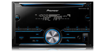 Pioneer 2-DIN Car Stereo CD Player Receiver w/ Bluetooth USB AUX | FH-S500BT
